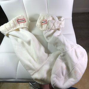 Hunter boots socks tall white